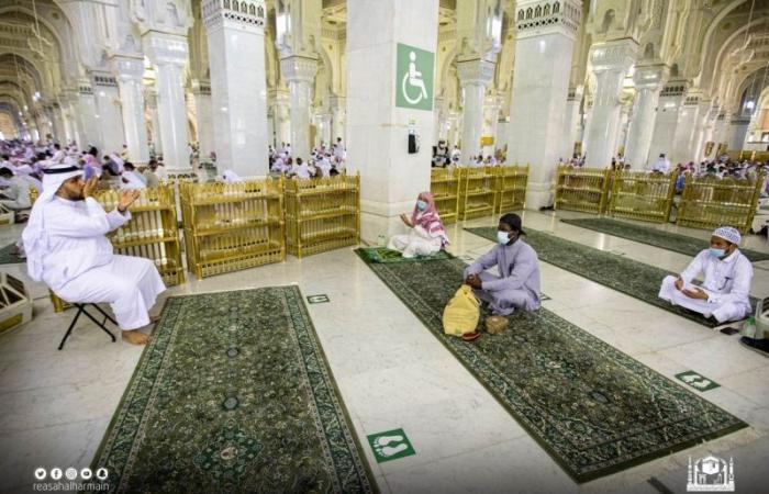 ترجمة خطبة الجمعة بلغة الإشارة في المسجد الحرام