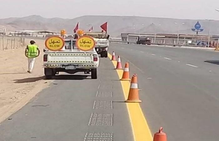 النقل تباشر العمل في المنطقة بين تقاطع طريق الرياض وبقيق
