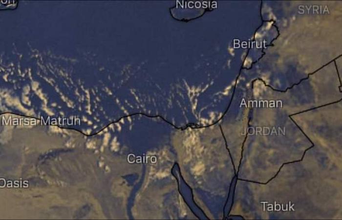 صور الأقمار الصناعية تشير لسحب ممطرة بالسواحل الشمالية وشمال الدلتا