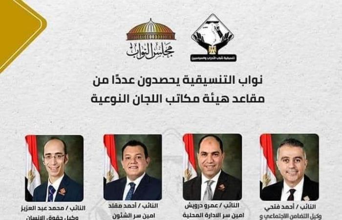 نواب التنسيقية يحصدون 10 مقاعد فى انتخابات اللجان النوعية فى مجلس النواب