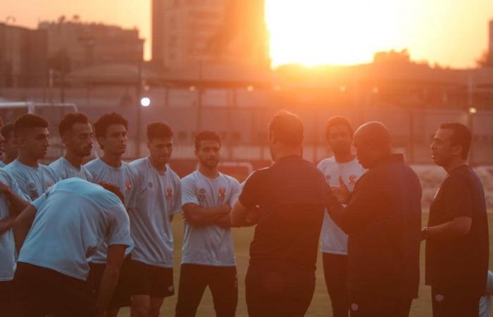 جلسات تحفيزية من موسيماني في مران الأهلي.. صور