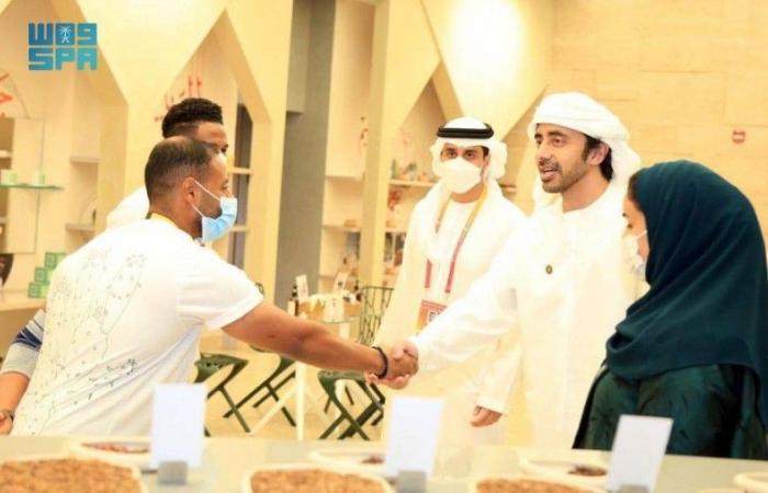 وزير خارجية الإمارات يزور الجناح السعودي في معرض إكسبو 2020 دبي