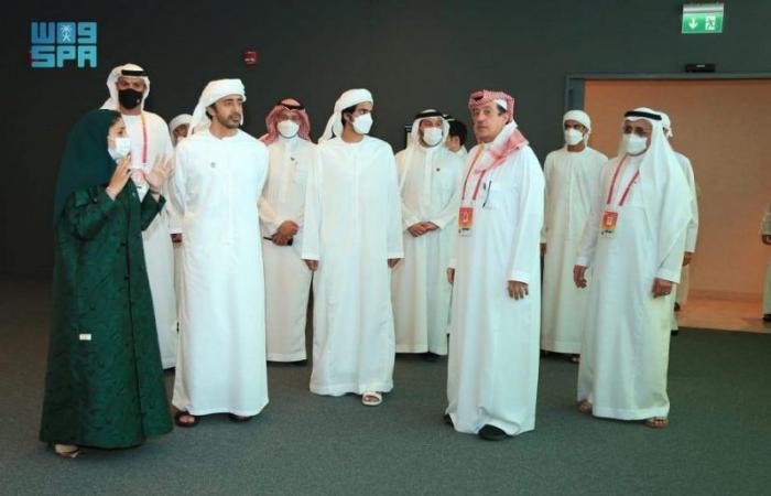 وزير خارجية الإمارات يزور جناح السعودية في إكسبو 2020 دبي