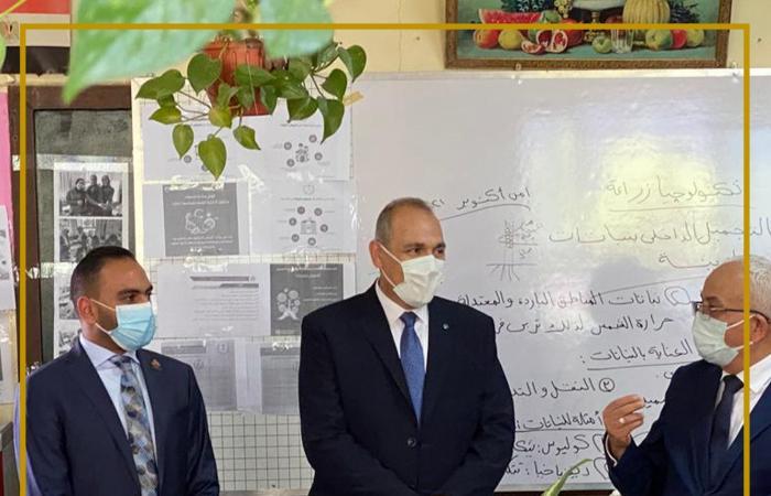 """فى أول يوم دراسة.. النائب محمد تيسير مطر يتفقد مدارس """"البساتين ودار السلام"""""""