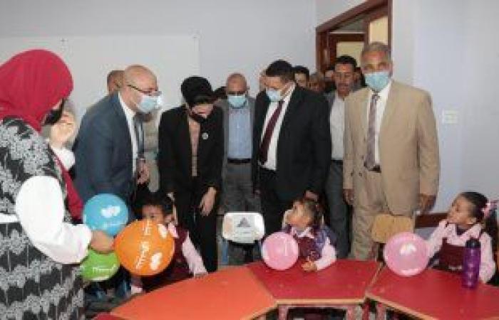 """مؤسسة """"حياة كريمة"""" تفتتح المجمع التعليمى بقرية الرياض فى بنى سويف.. صور"""
