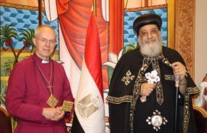 """رئيس """"كانتربرى"""" للبابا تواضروس: شعرت بروحانية عميقة فى الكنيسة القبطية"""