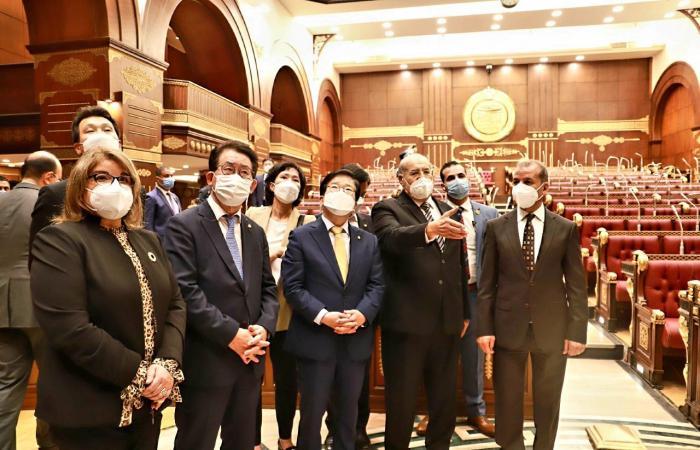 رئيس مجلس الشيوخ يستقبل رئيس الجمعية الوطنية لجمهورية كوريا الجنوبية
