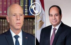 السيسي يهنئ قيس سعيد بعيد الفطر.. ويتمنى لتونس الشقيقة السلام والاستقرار